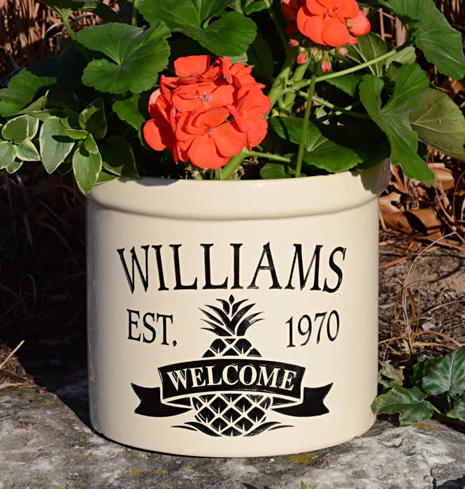 Whitehall Products Personalized Stoneware Crocks