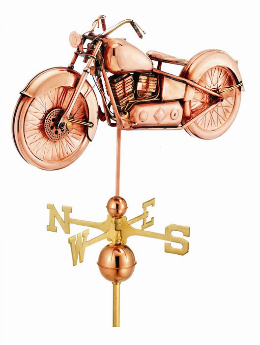 Good Directions Motorcycle Weathervane