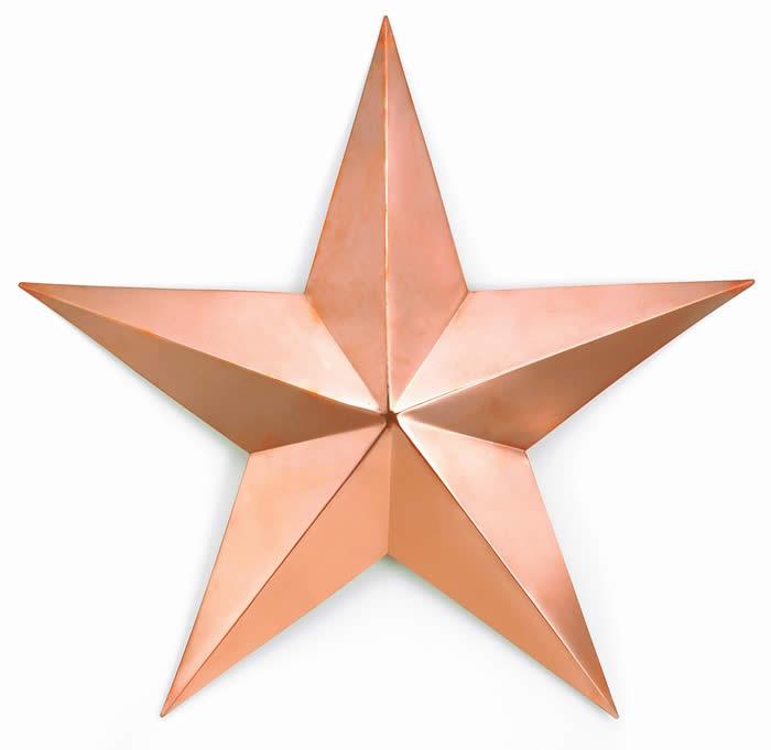 Polished Copper Barn Star